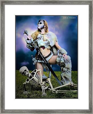 Necromancer On The Killing Fields Framed Print