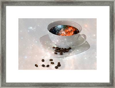 Nectar From Heaven - Coffee Art By Sharon Cummings Framed Print by Sharon Cummings
