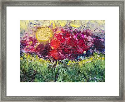 Framed Print featuring the painting Nectarous by Ron Richard Baviello