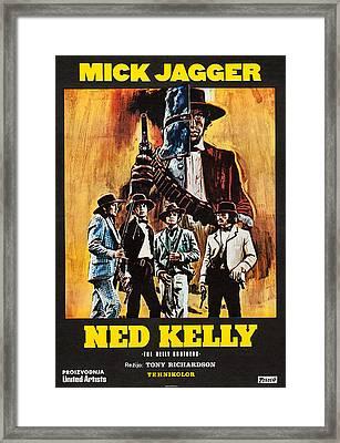 Ned Kelly, Czech Poster Art, Mick Framed Print