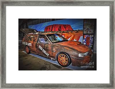 Ned Kelly's Car At Ayers Rock Framed Print by Kaye Menner