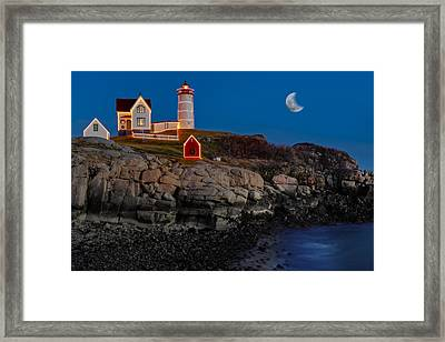 Neddick Lighthouse Framed Print by Susan Candelario