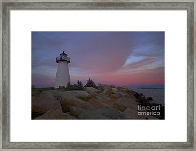 Ned's Point At Sunset Framed Print