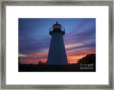 Ned's Point Lighthouse Framed Print by Amazing Jules