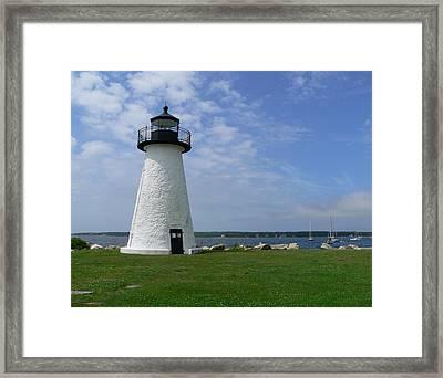 Neds Point Lighthouse Framed Print