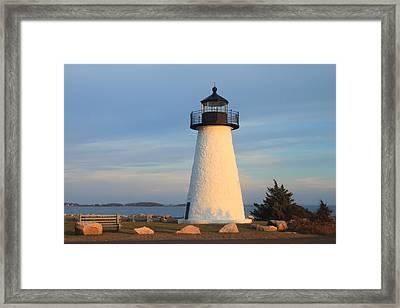 Ned's Point Lighthouse Mattapoisett Massachusetts Framed Print by John Burk