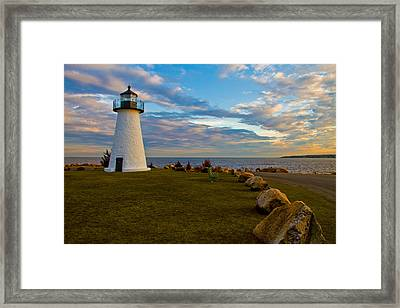 Neds Point Lighthouse Framed Print