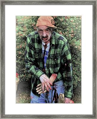 Need A Hand Framed Print by Jon Volden