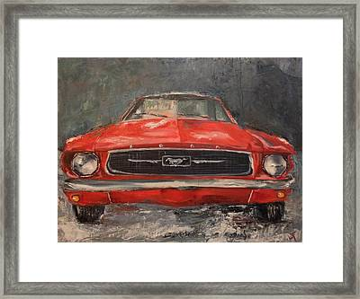 Framed Print featuring the painting Need For Speed by Lindsay Frost