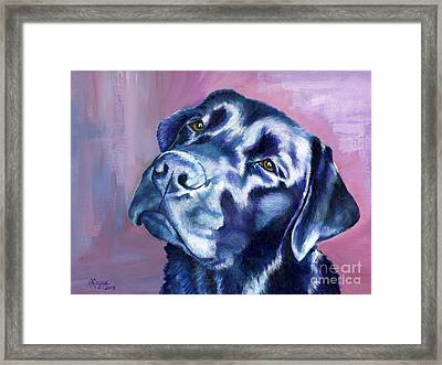 Need Help With That? Black Lab Framed Print