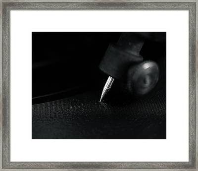 Needle And Grooves Framed Print by Jon Woodhams