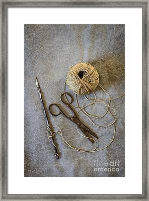Needle And String Framed Print by Carlos Caetano