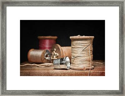 Needle And Thread Framed Print