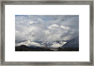 Needle Rock Clearing Sky Framed Print