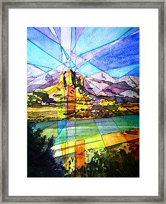 Needle Rock Light Show Framed Print