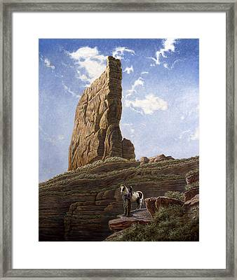 Needle Rock Framed Print by Gregory Perillo