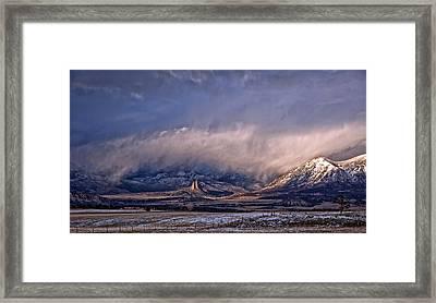 Needle Rock Winters Glow Framed Print