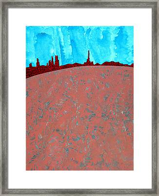 Needles And Dunes Original Painting Framed Print by Sol Luckman