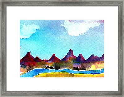 Framed Print featuring the painting Needles Mountains by Anne Duke