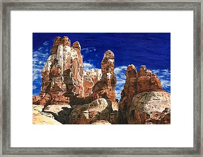 Needles Framed Print by Sheri Wiseman
