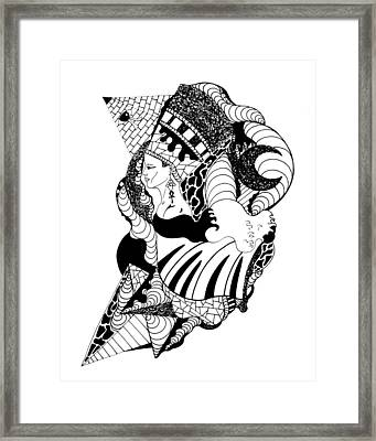 Nefertiti And The Moon Framed Print
