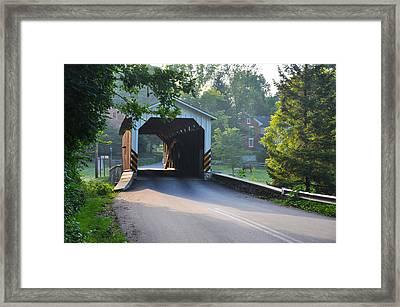 Neff's Mill Covered Bridge Lancaster County Framed Print