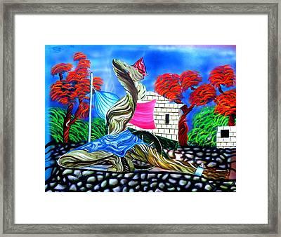 Neg X Framed Print by Neg Ayiti