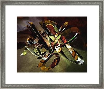 negative aboutness IV Framed Print by Peter Ciccariello