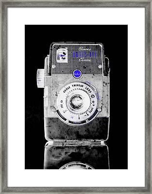 Negative Brownie Bullseye Pop Art Framed Print