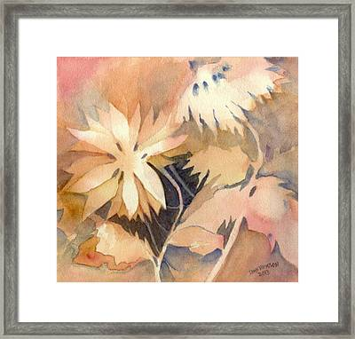 Negative Flowers Framed Print