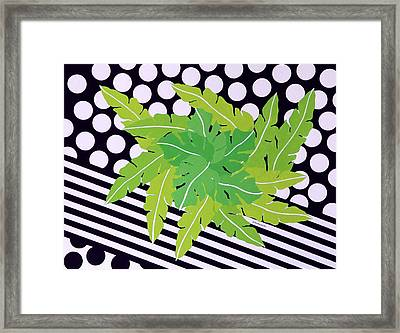 Negative Green Framed Print by Thomas Gronowski