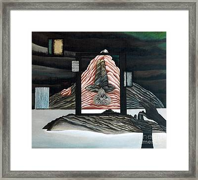 Framed Print featuring the painting Negative Ion by Fei A