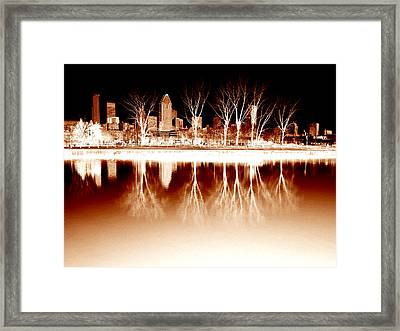 Negative Reflections  Framed Print by Robert Knight