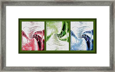 Negative Space Triptych - Inverted Framed Print by Steve Ohlsen