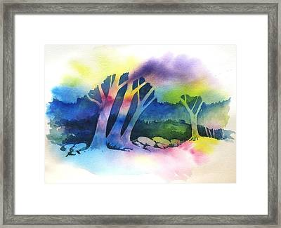 Negative Trees Framed Print by Renee Goularte
