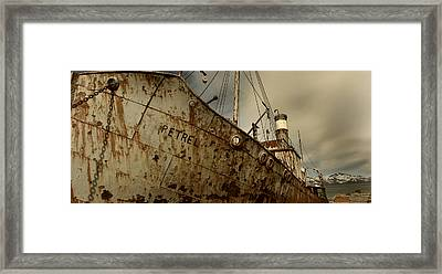 Neglected Whaling Boat Framed Print by Amanda Stadther