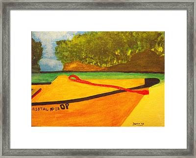 Negril Fishing Boat Framed Print