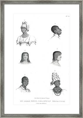 Negro And Indian Heads Framed Print by British Library