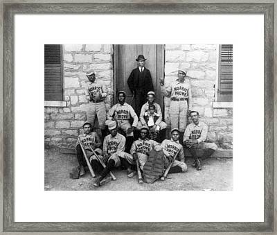 Negro Baseball Framed Print by Granger