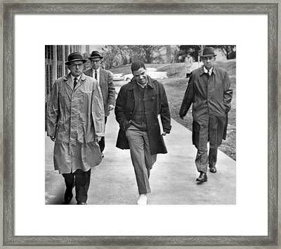 Negro Escorted To College Framed Print by Underwood Archives