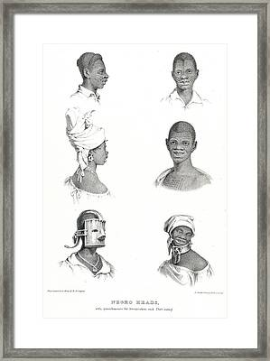 Negro Heads Framed Print