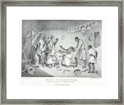 Negro Superstition Framed Print