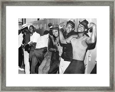 Negro Youths Interrogated Framed Print by Underwood Archives