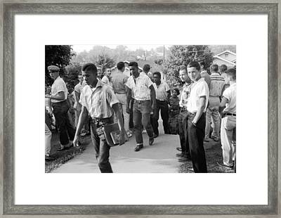 Negroes Going To School Framed Print by Underwood Archives