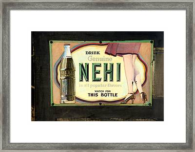 Nehi Framed Print by Cindy McIntyre