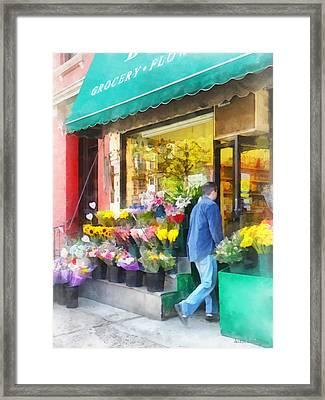 Neighborhood Flower Shop Framed Print by Susan Savad