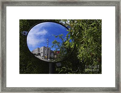 Framed Print featuring the photograph Neighborhood Reflection by Sherry Davis
