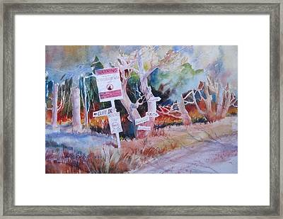 Neighborhood Watch  Framed Print by John  Svenson