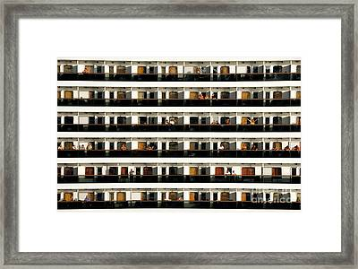 Neighbors Across The Way Cruise Ship Framed Print