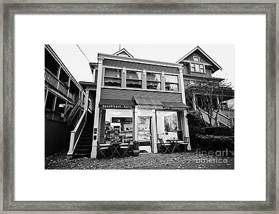 neighbourhood grocery and small deli in west end Vancouver BC Canada Framed Print by Joe Fox